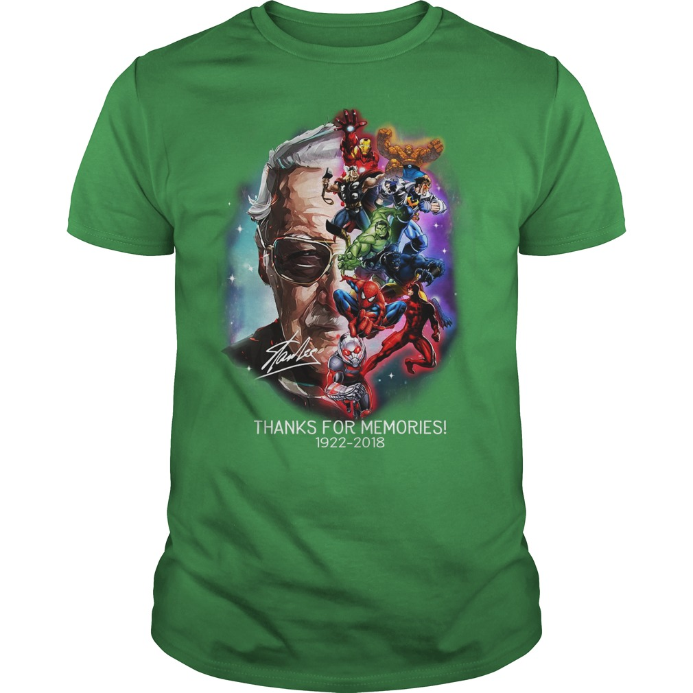 Stan Lee thanks for the memories shirt