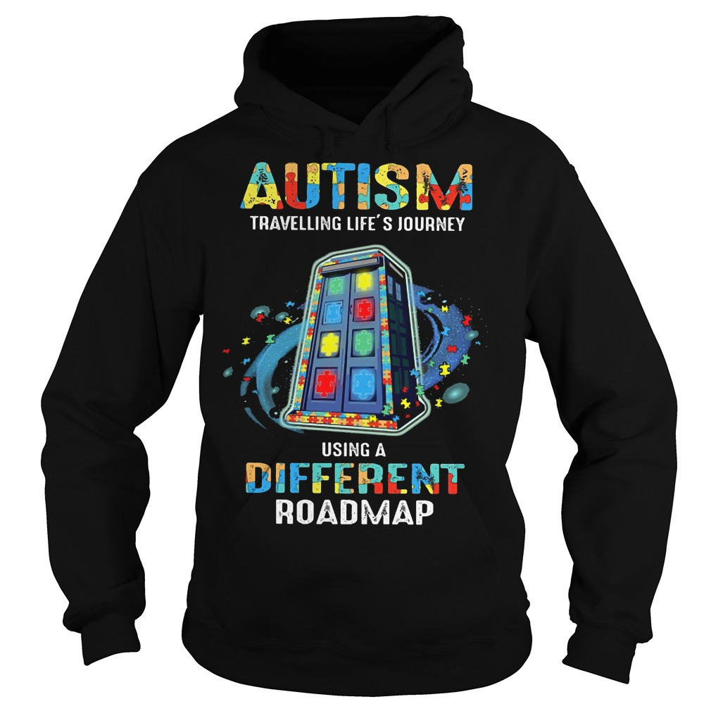 Autism traveling life's journey using a different roadmap hoodie