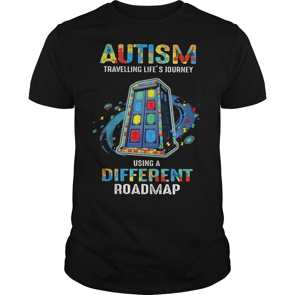 Autism traveling life's journey using a different roadmap shirt
