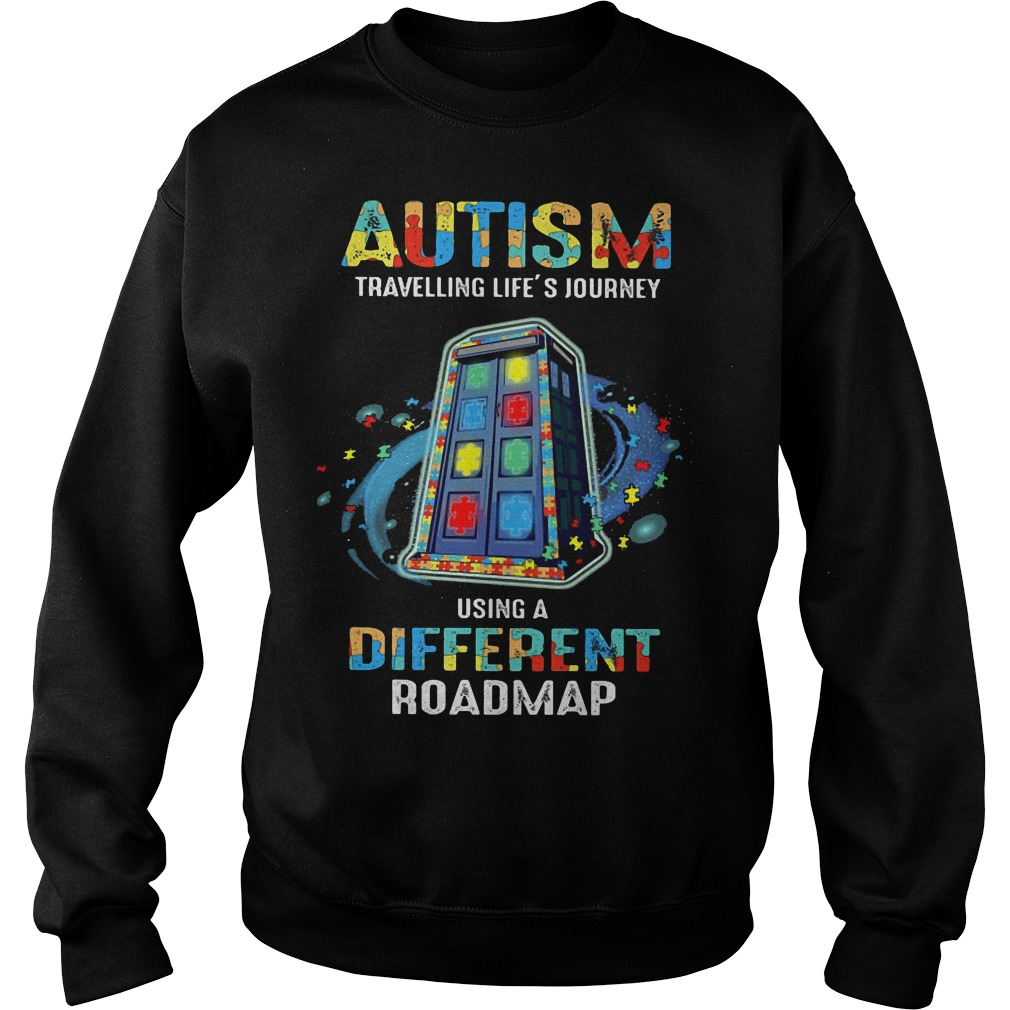 Autism traveling life's journey using a different roadmap sweater