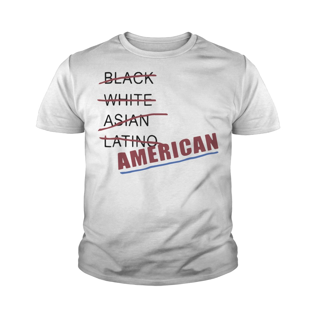 Black white Asian latino American youth tee