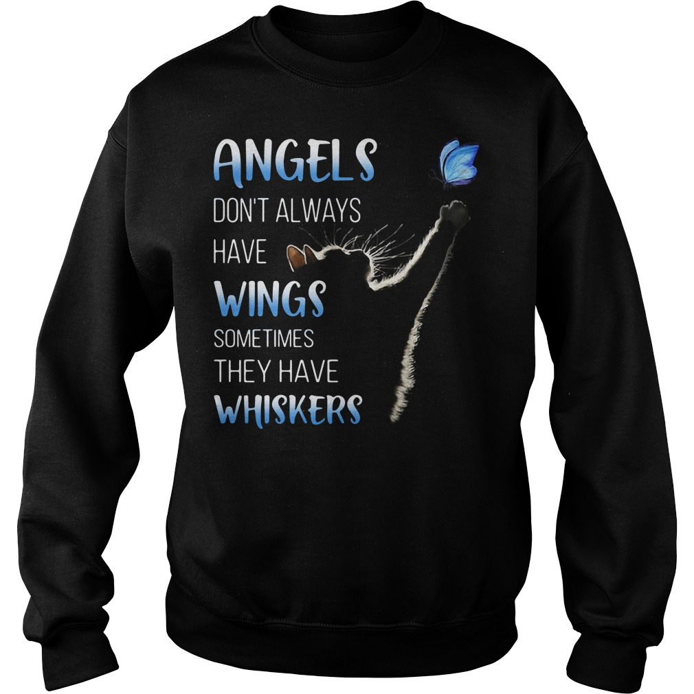 Cat catching butterfly angels don't always have wings sweater