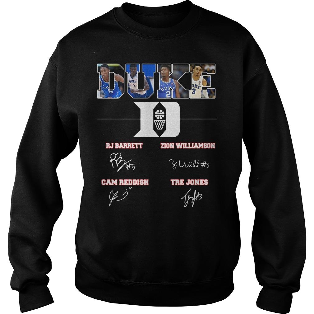 Duke Rj Barrett Zion Williamson signature sweater