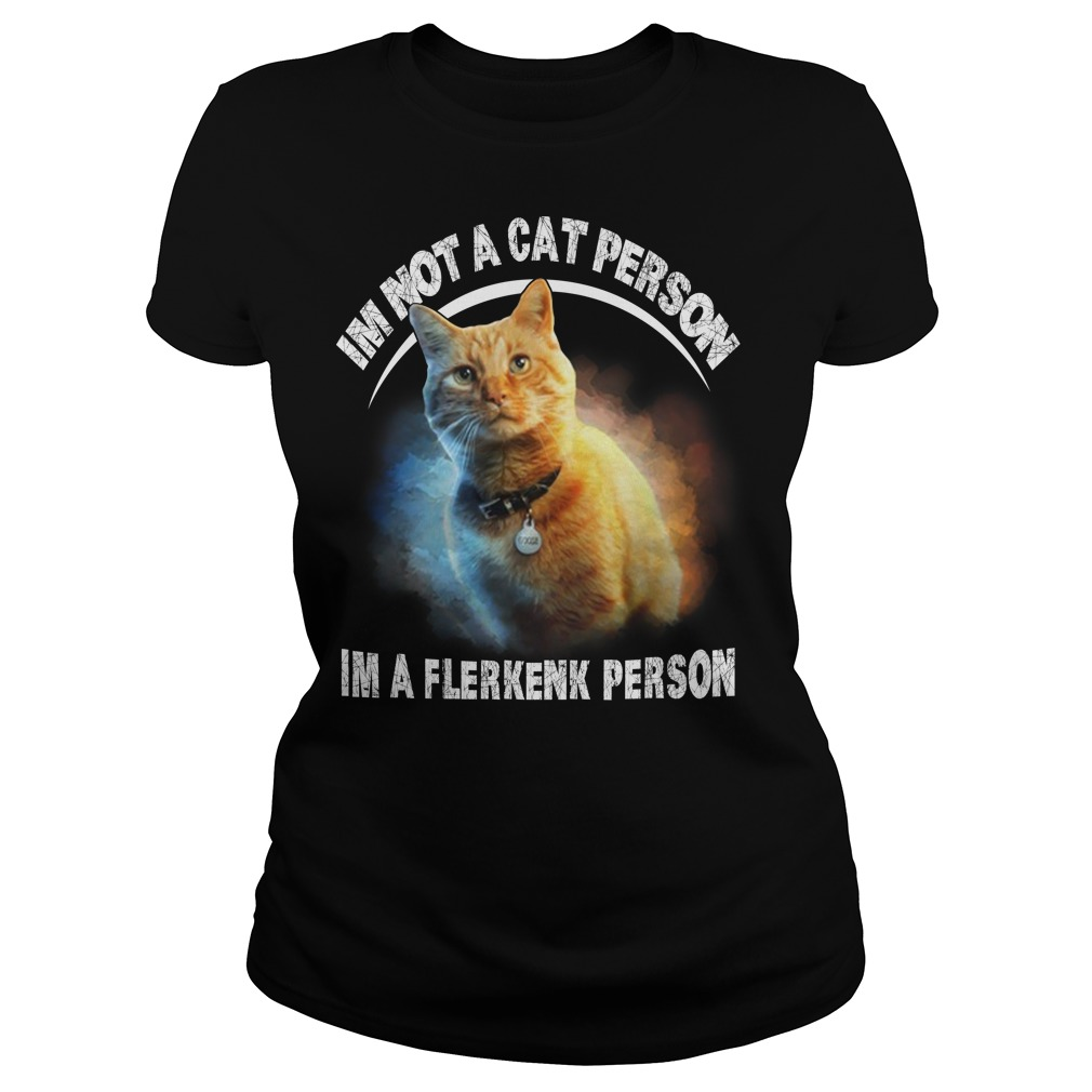 Goose the cat I'm not a cat person I'm a Flerken person ladies tee