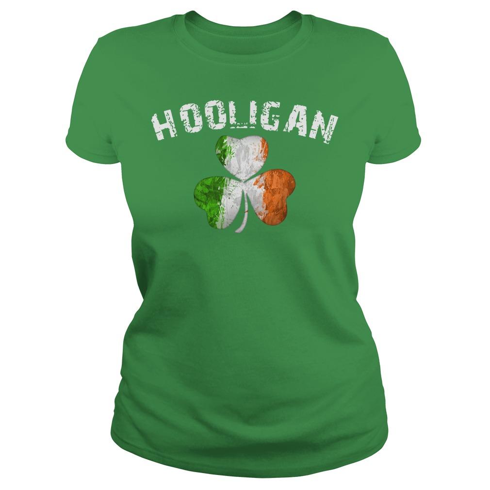 Hooligan irish flag with shamrock shirt