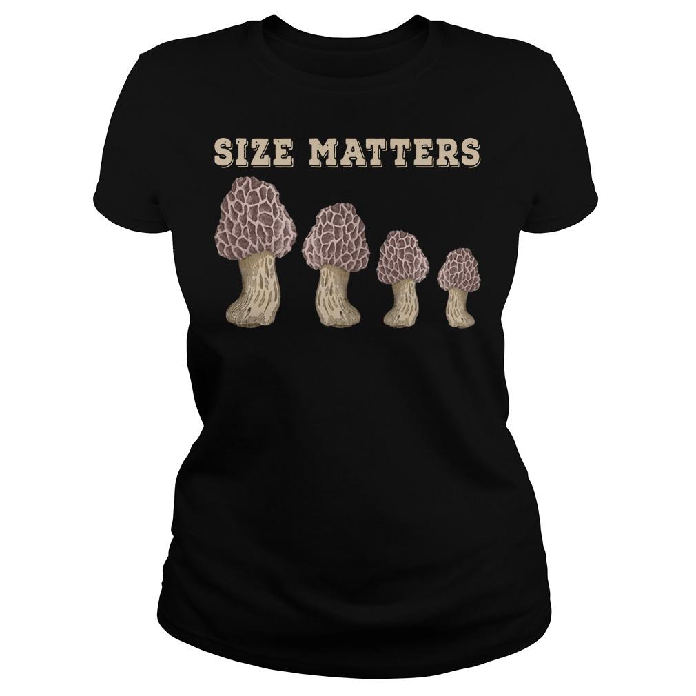 Mushroom size Matters ladies tee