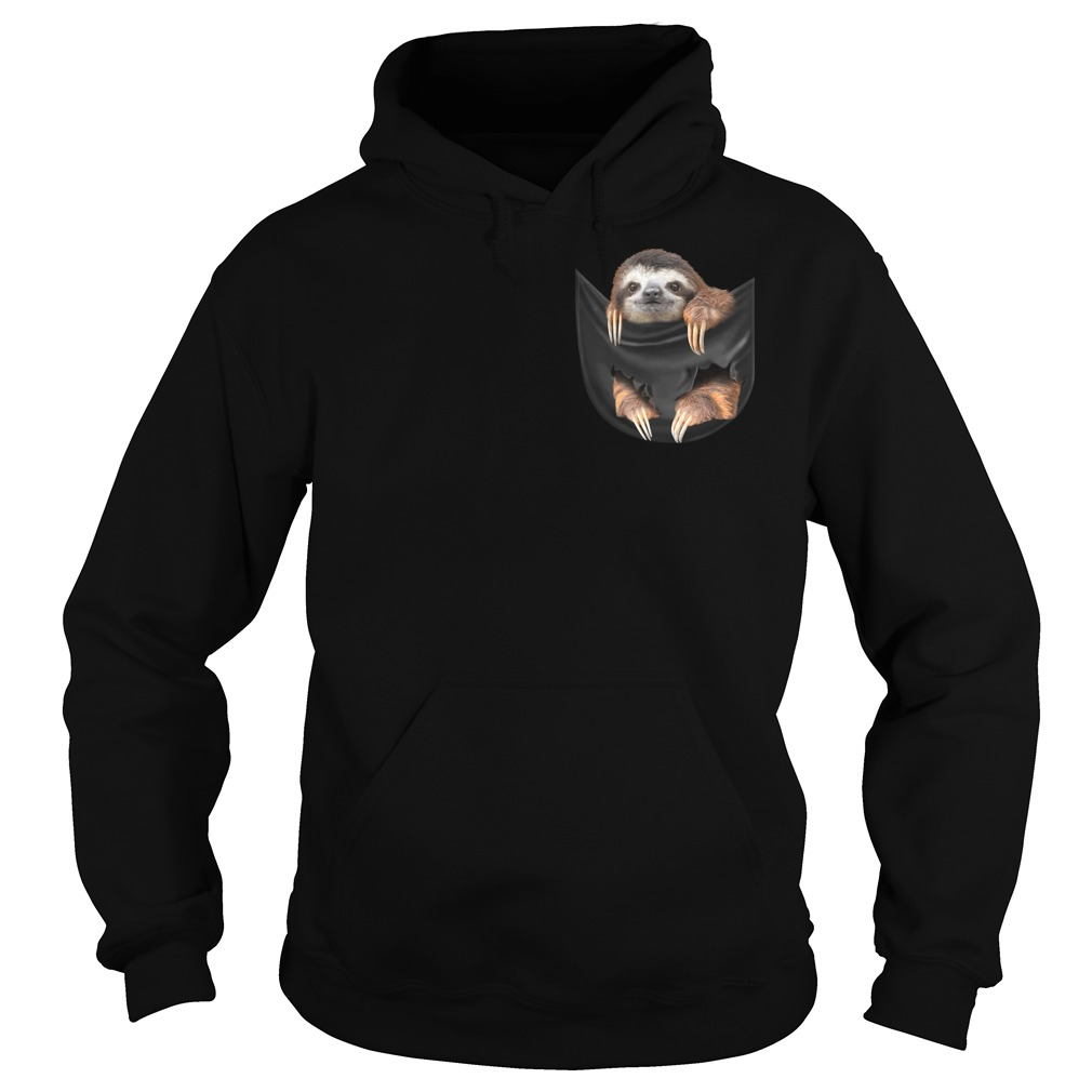 Sloth in the pocket hoodie