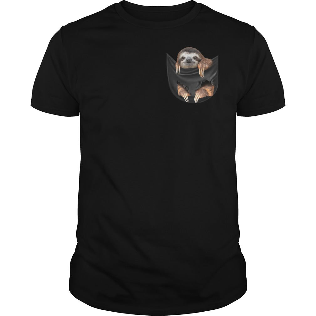 Sloth in the pocket shirt