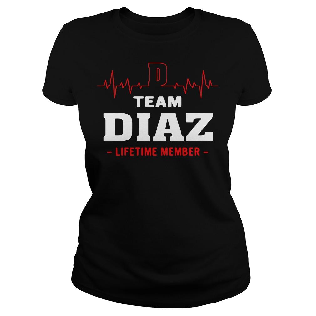 Team diaz lifetime member ladies tee