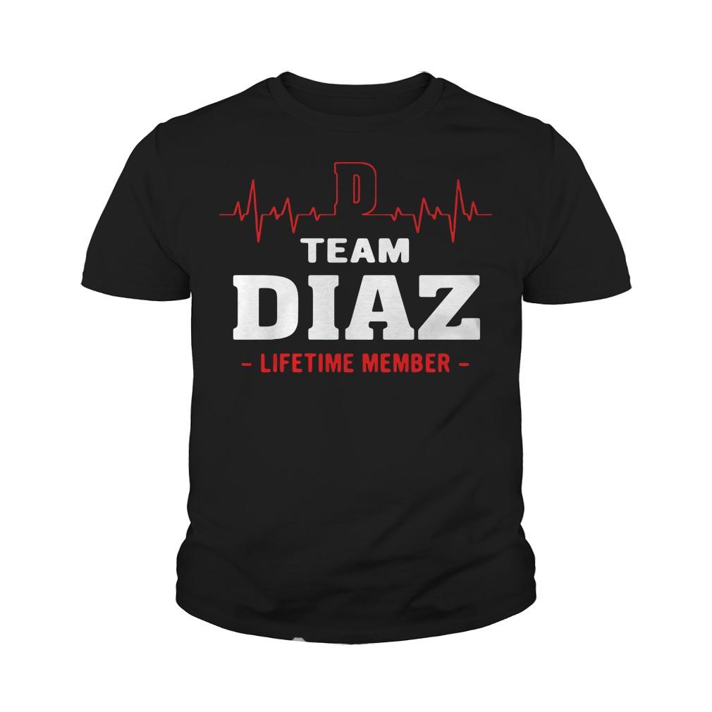 Team diaz lifetime member youth tee