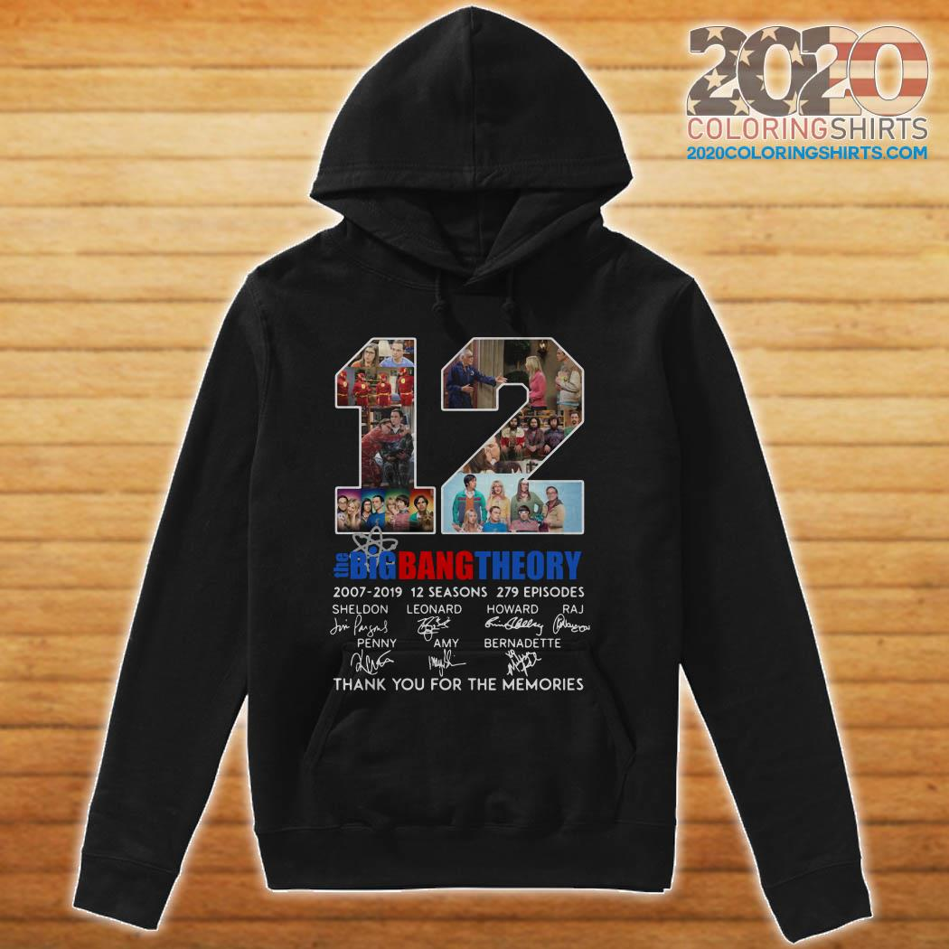 12 Years The Big Bang Theory Thank You For The Memories hoodie