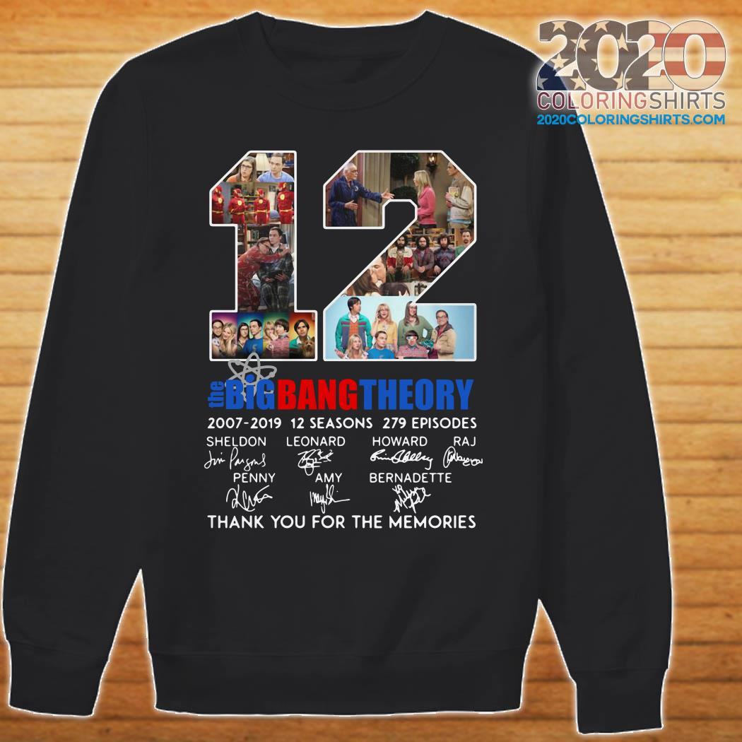 12 Years The Big Bang Theory Thank You For The Memories sweater