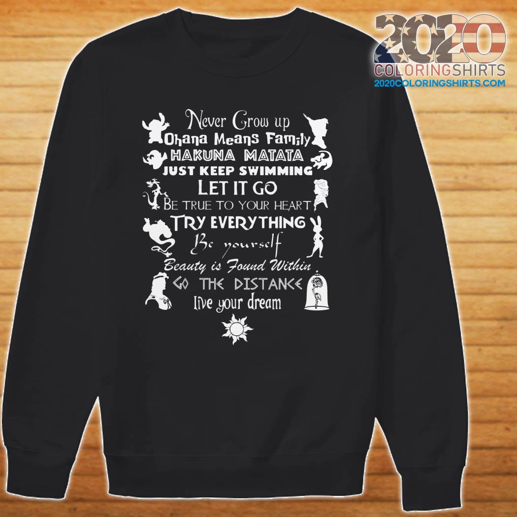 Never Grow Up Live Your Dream Disney sweater