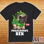 Pugasaurus Rex Pug Dog shirt