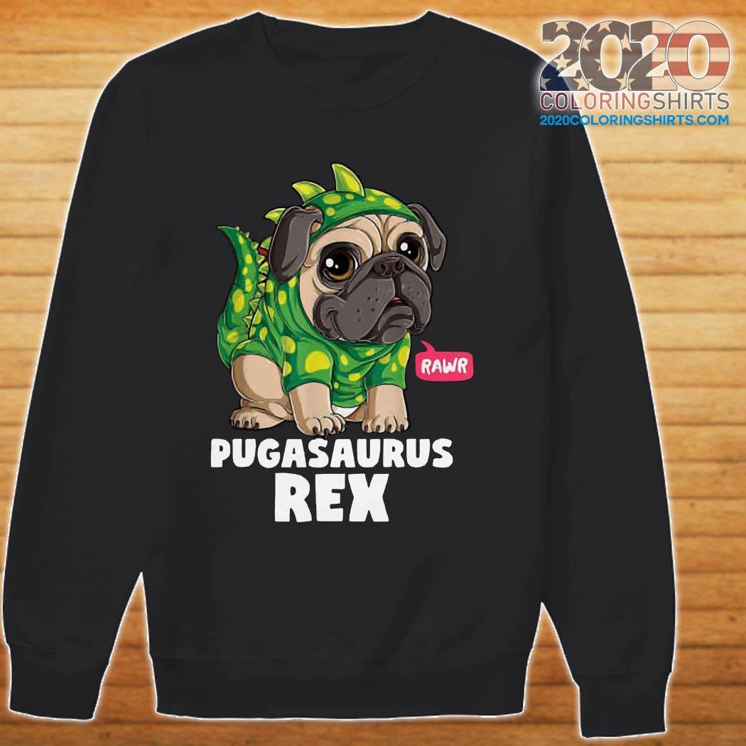 Pugasaurus Rex Pug Dog sweater