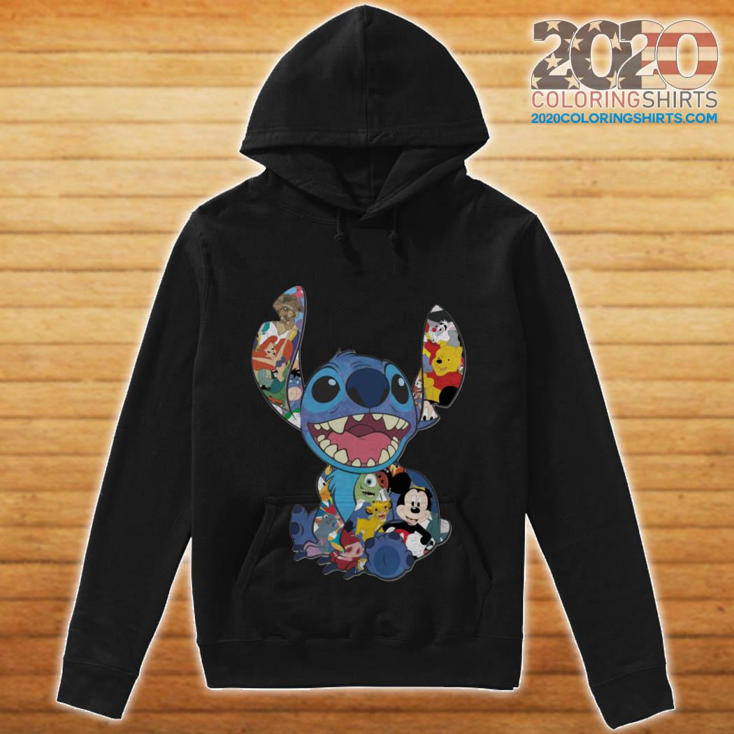 Stitch And Disney Characters hoodie