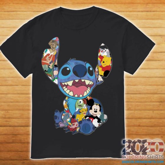 Stitch And Disney Characters shirt