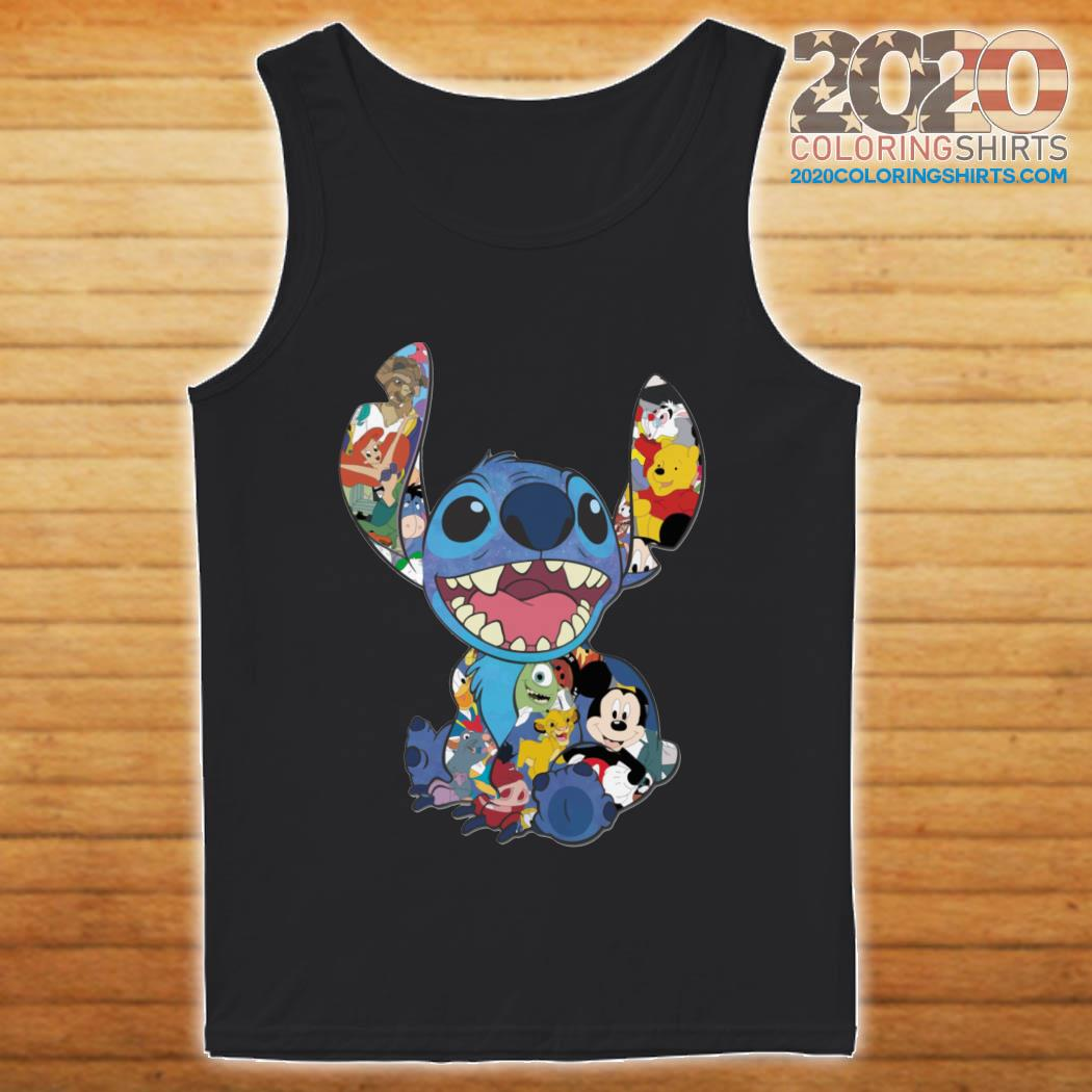 Stitch And Disney Characters tank top