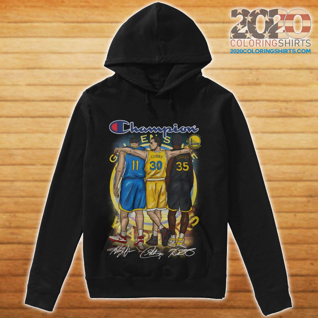 separation shoes c73bd 2dd12 Warriors Champion Steph Curry Klay Thompson And Kevin Durant ...