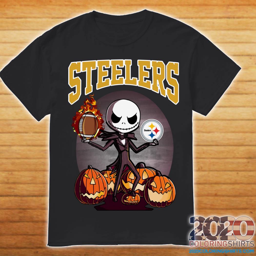 Steelers Halloween 2020 Pittsburgh Steelers Jack Skellington Halloween Shirt, hoodie, tank