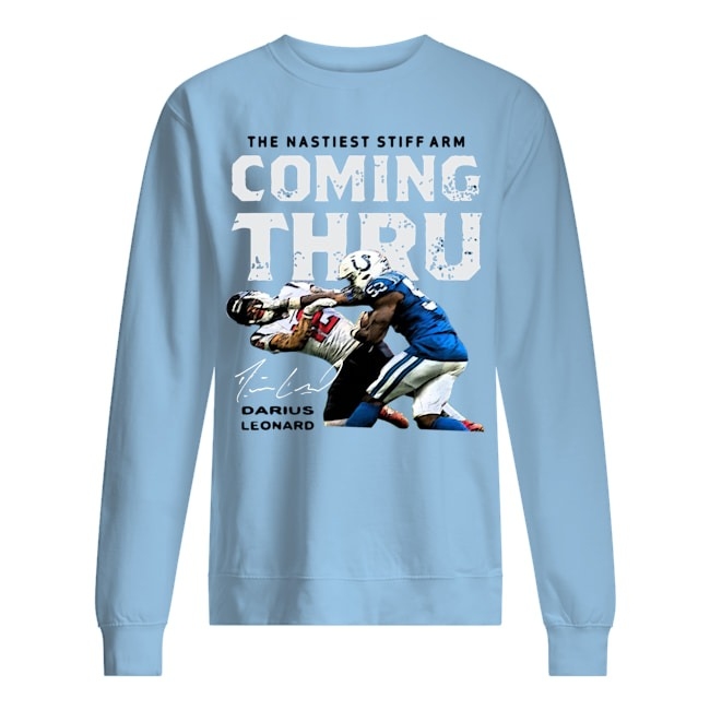 The Nastiest Stiff Arm Coming Thru Darius Leonard sweater