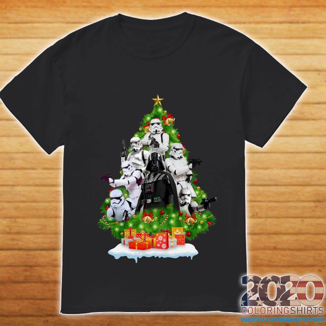 Darth vader and Stormtrooper Christmas Tree Shirt