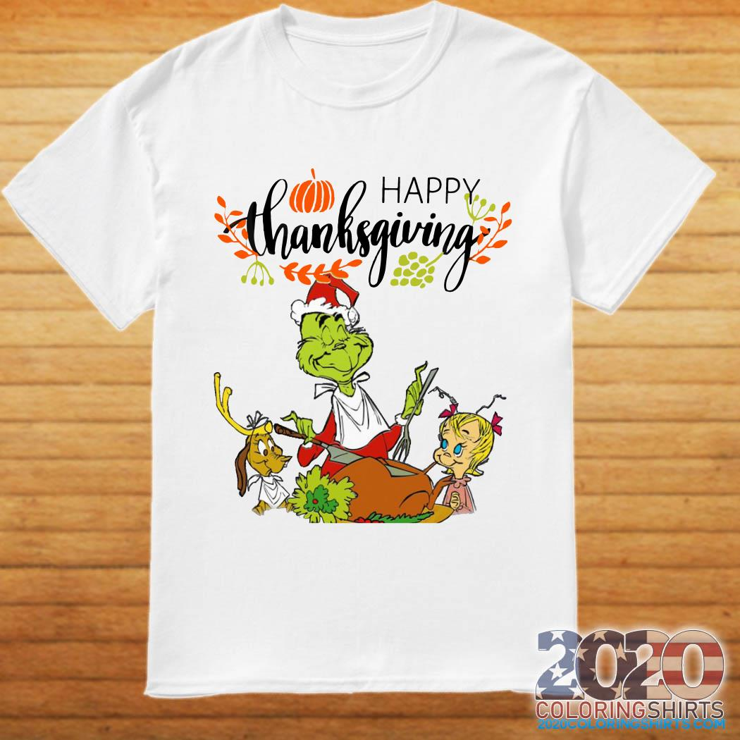 The Grinch Happy Thanksgiving shirt