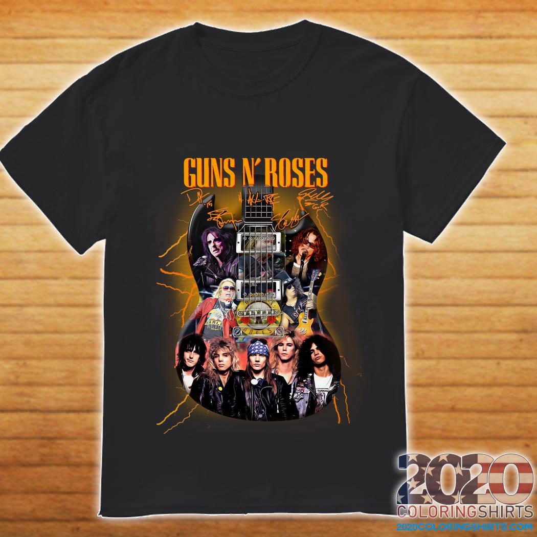 Guns N'roses signatures Guitar shirt