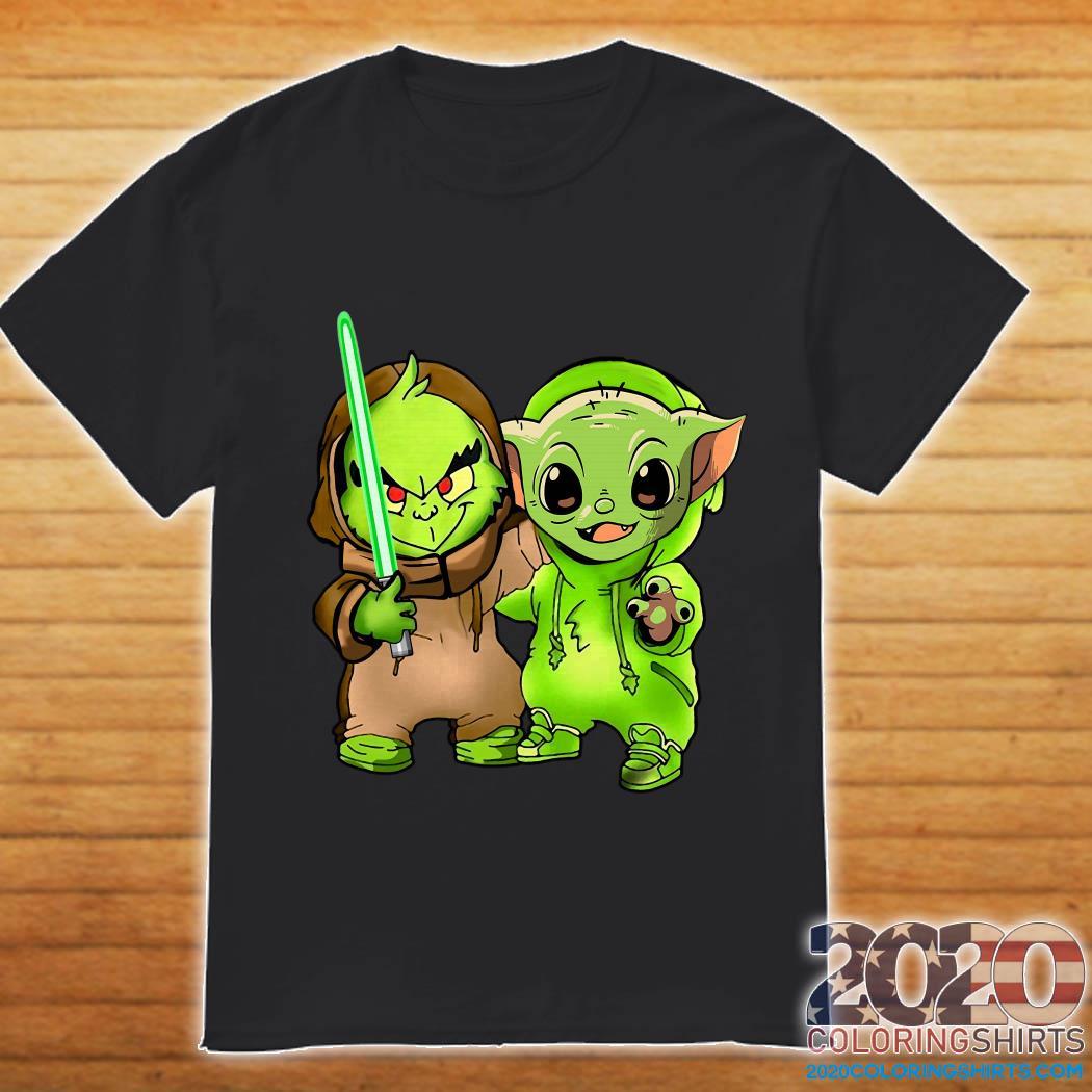 Baby Yoda and Baby Grinch shirt