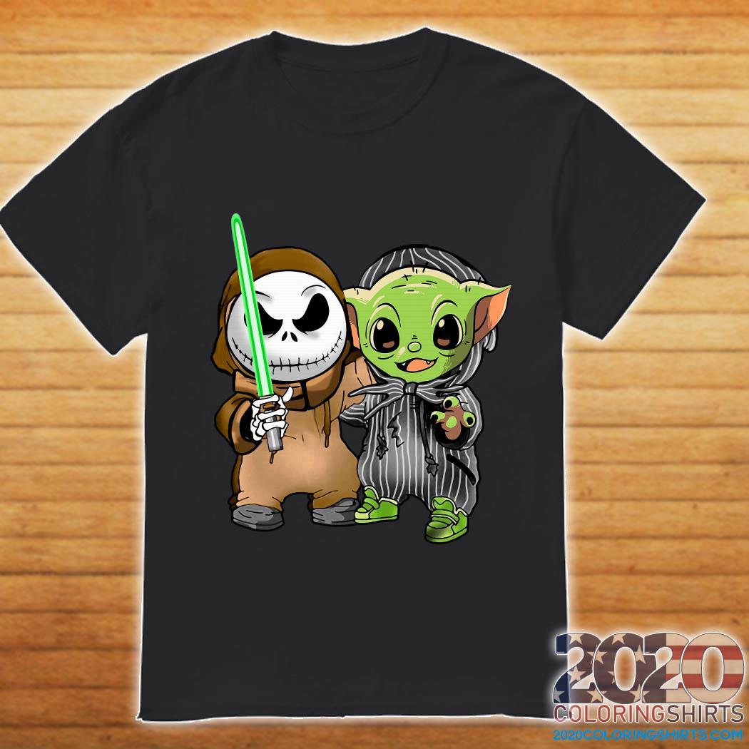Baby Yoda and Jack Skellington shirt