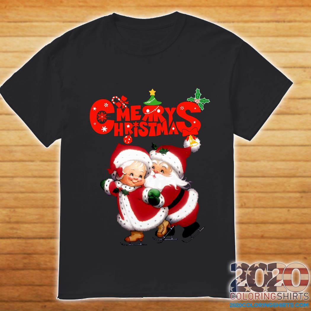 Happy christmas Cute Mrs Claus and Mr Claus shirt