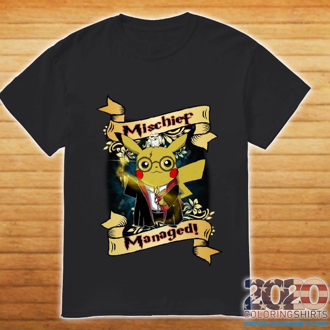 Harry Potter Pikachu Mischief Managed Shirt