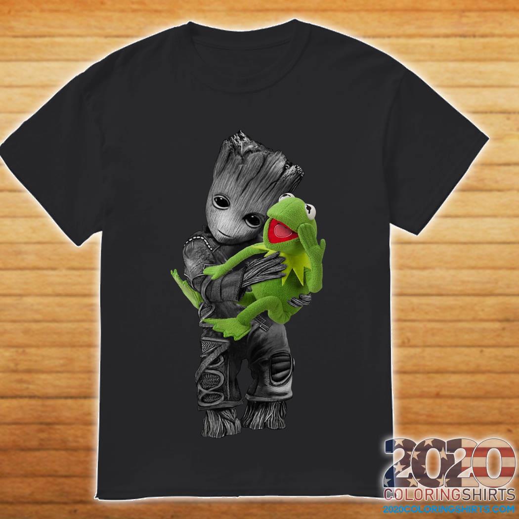 Baby Groot Hug Frog Shirt