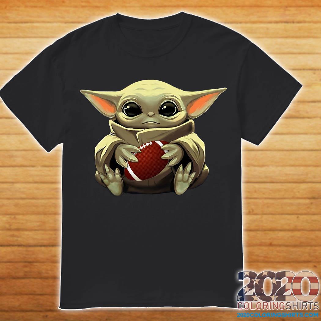 Baby Yoda and American football Shirt
