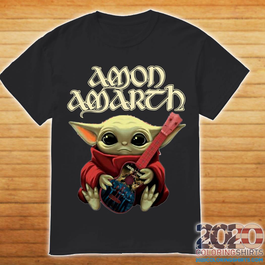 Baby Yoda and Amon Amarth shirt