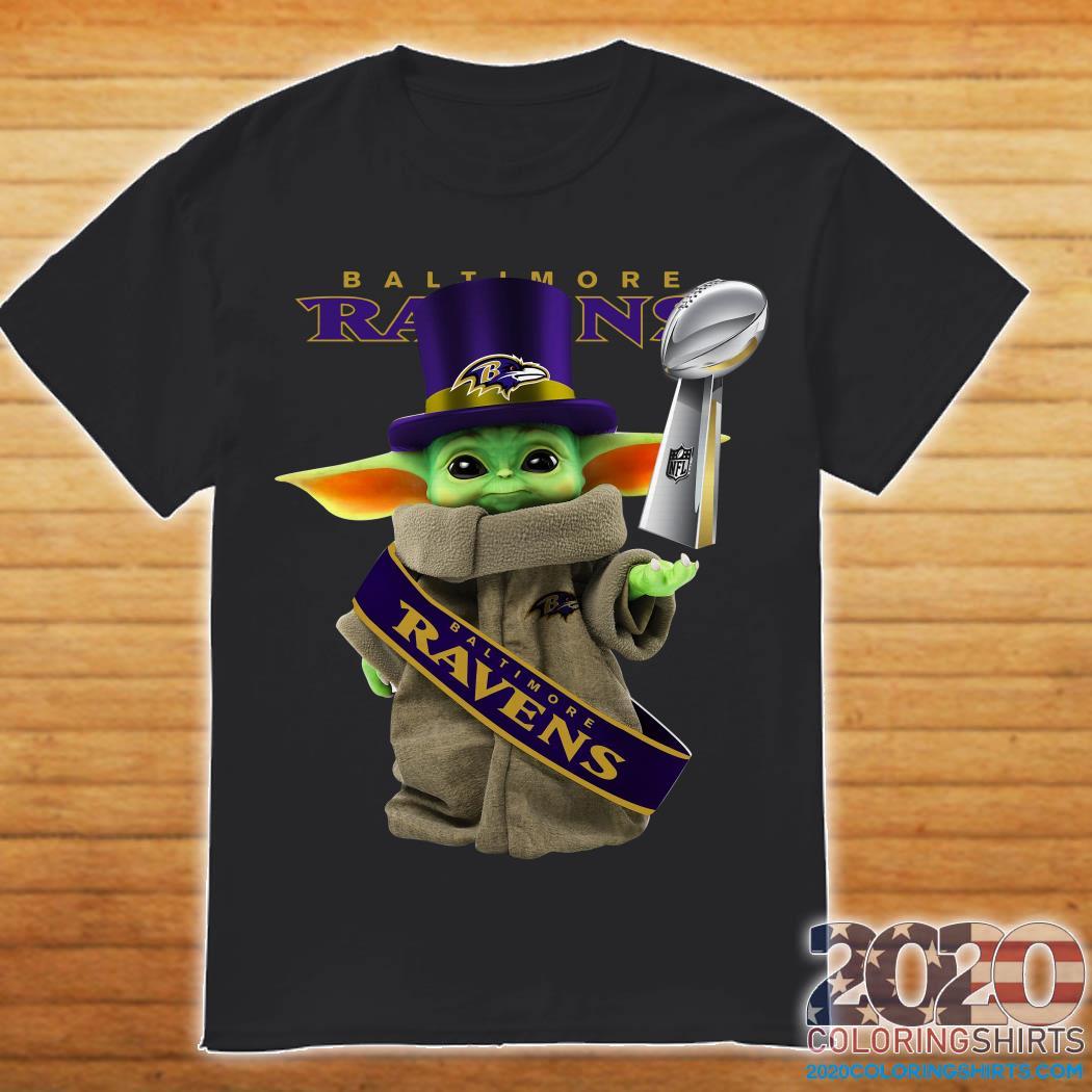 Baby Yoda Baltimore Ravens Cup Shirt