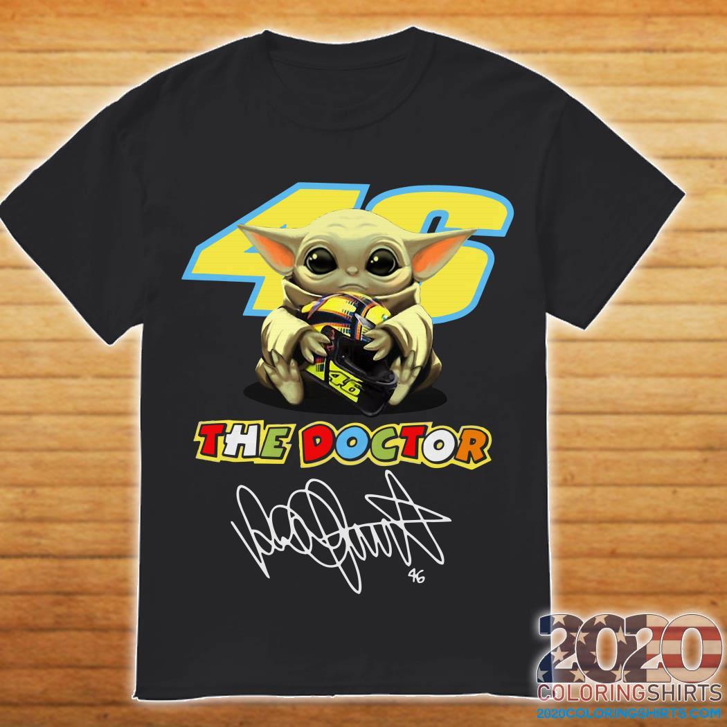 Baby Yoda Hug 46 The Doctor Valentino Rossi Shirt