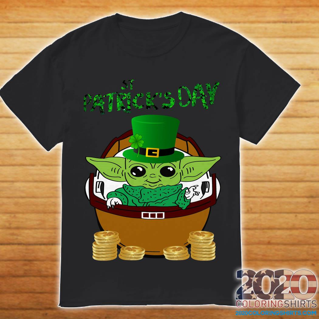 Baby Yoda The Mandalorian Happy St Patrick's Day Shirt