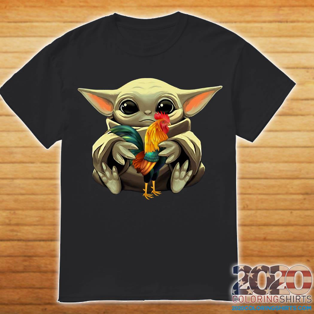Baby Yoda And Rooster Shirt
