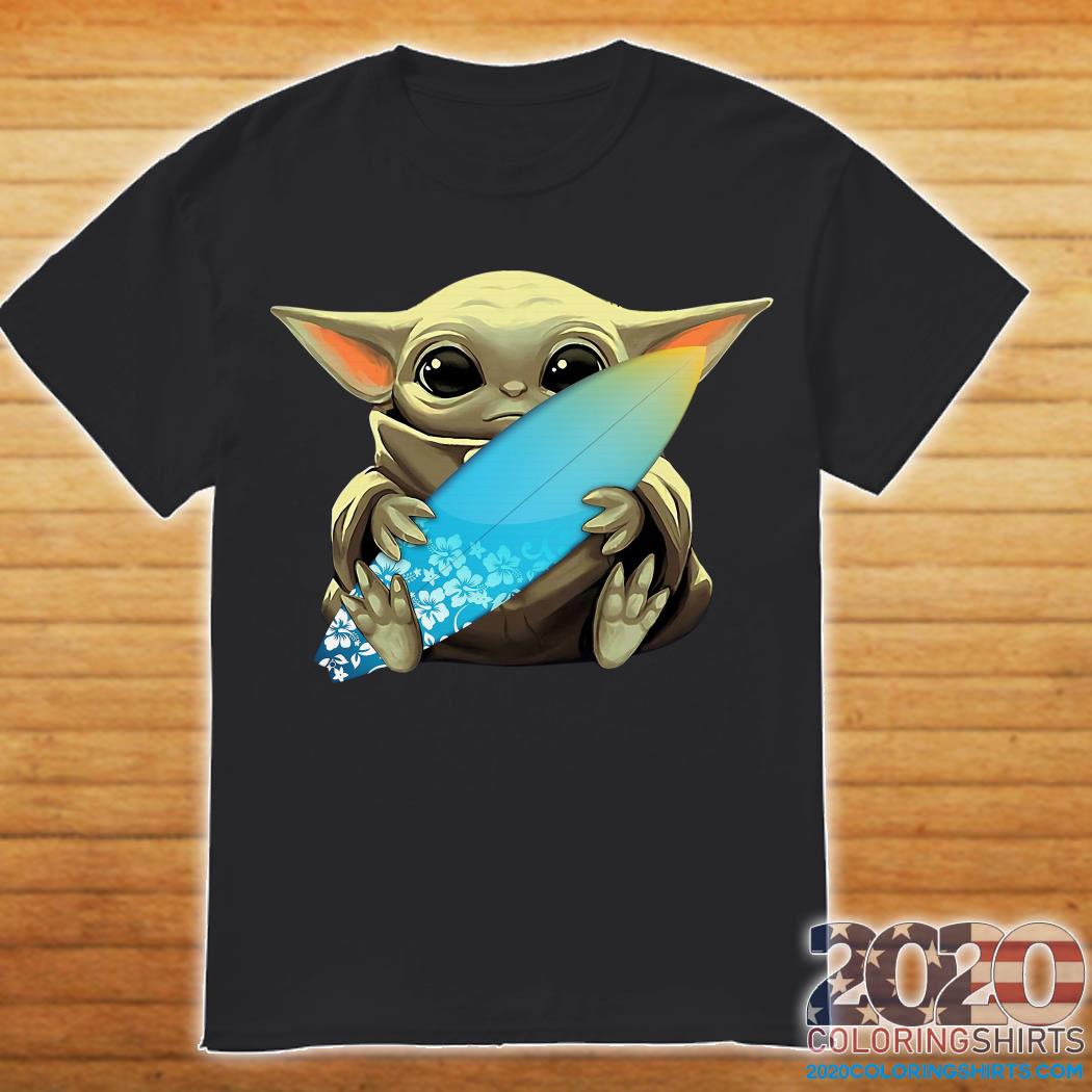 Baby Yoda and Windsurfing shirt
