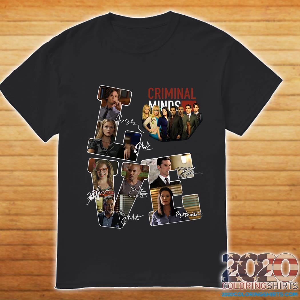 Love Criminal Minds Signatures Shirt