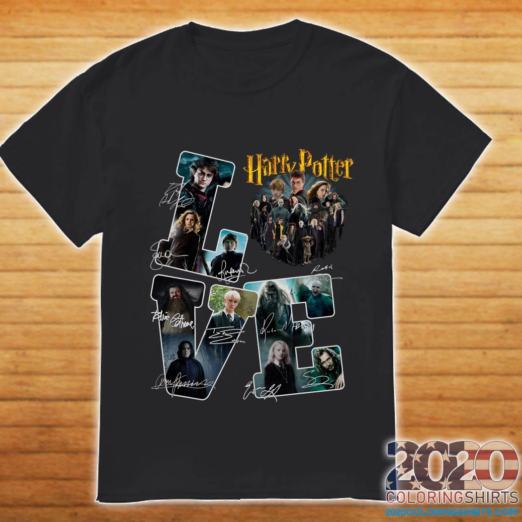 Love Harry Potter All Characters Signatures Shirt
