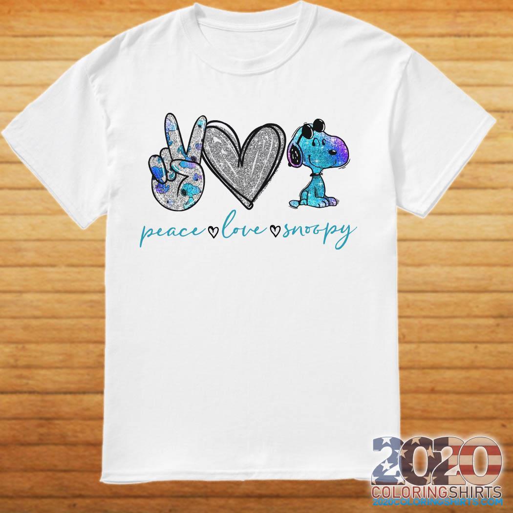 Peace Love Snoopy Shirt