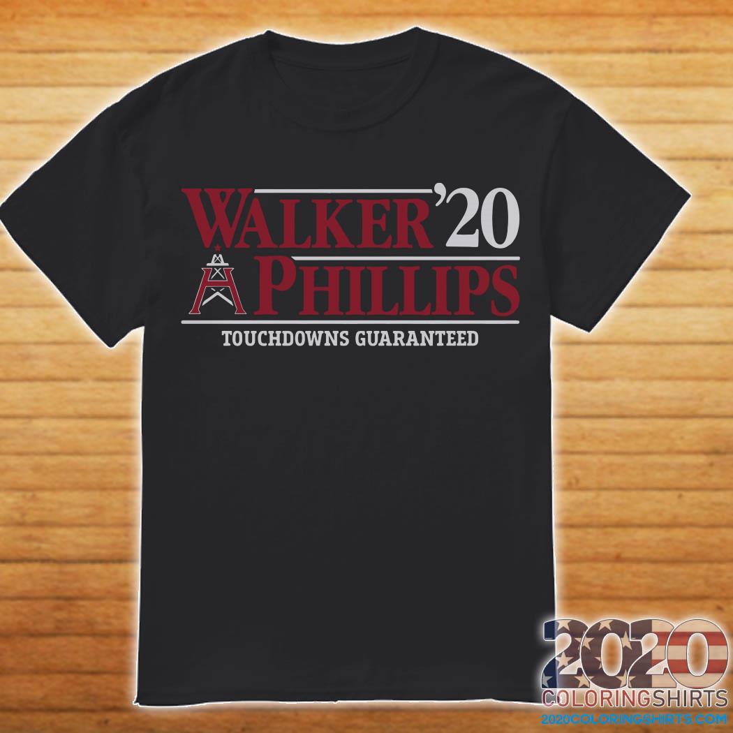Walker'20 Phillips Touchdowns Guaranteed Shirt