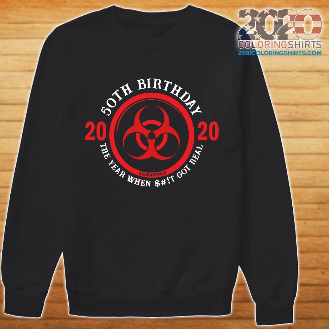 50th Birthday 2020 Quarantine The Year When Shit Got Real Quarantine Shirt sweater