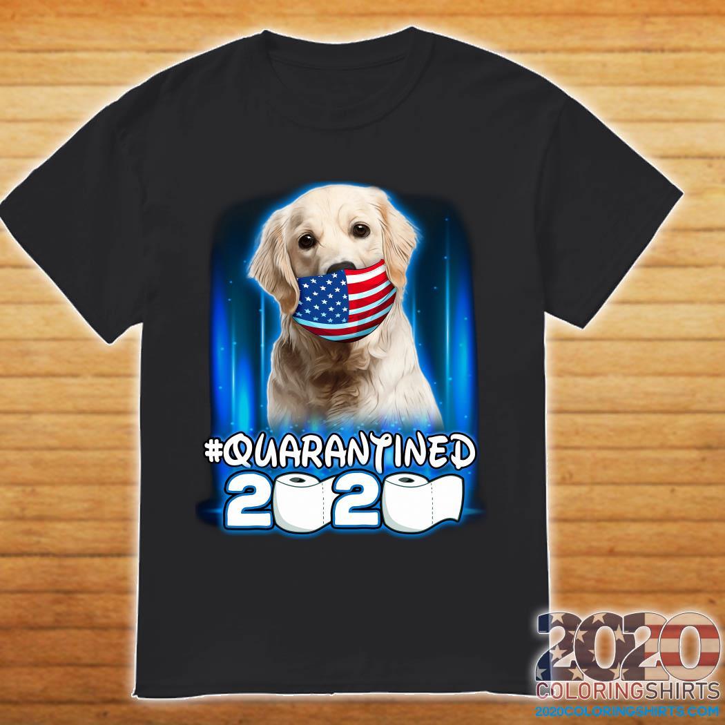 Golden Retriever Face Mask American Flag Quarantined 2020 Toilet Paper Shirt
