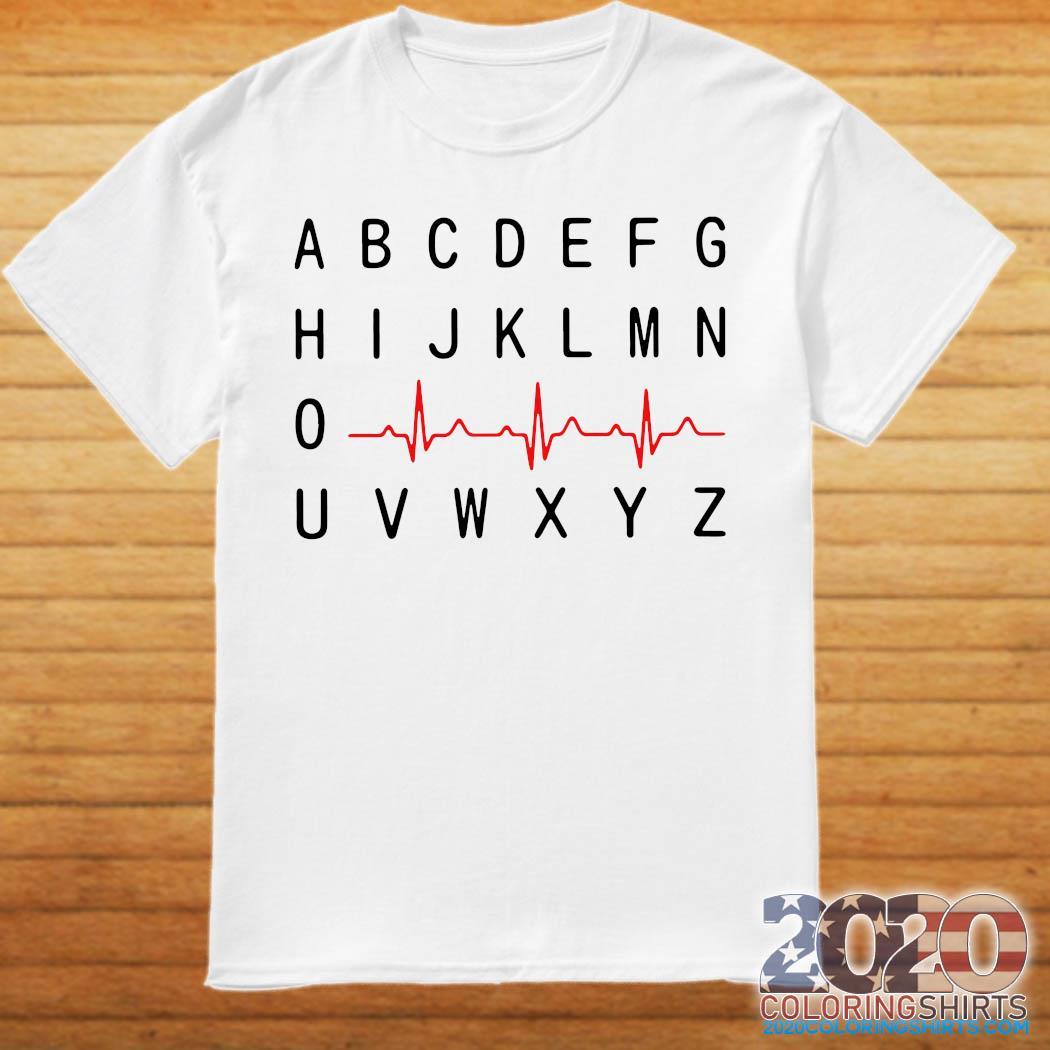 A B C D E F G Nurse Heartbeat Shirt