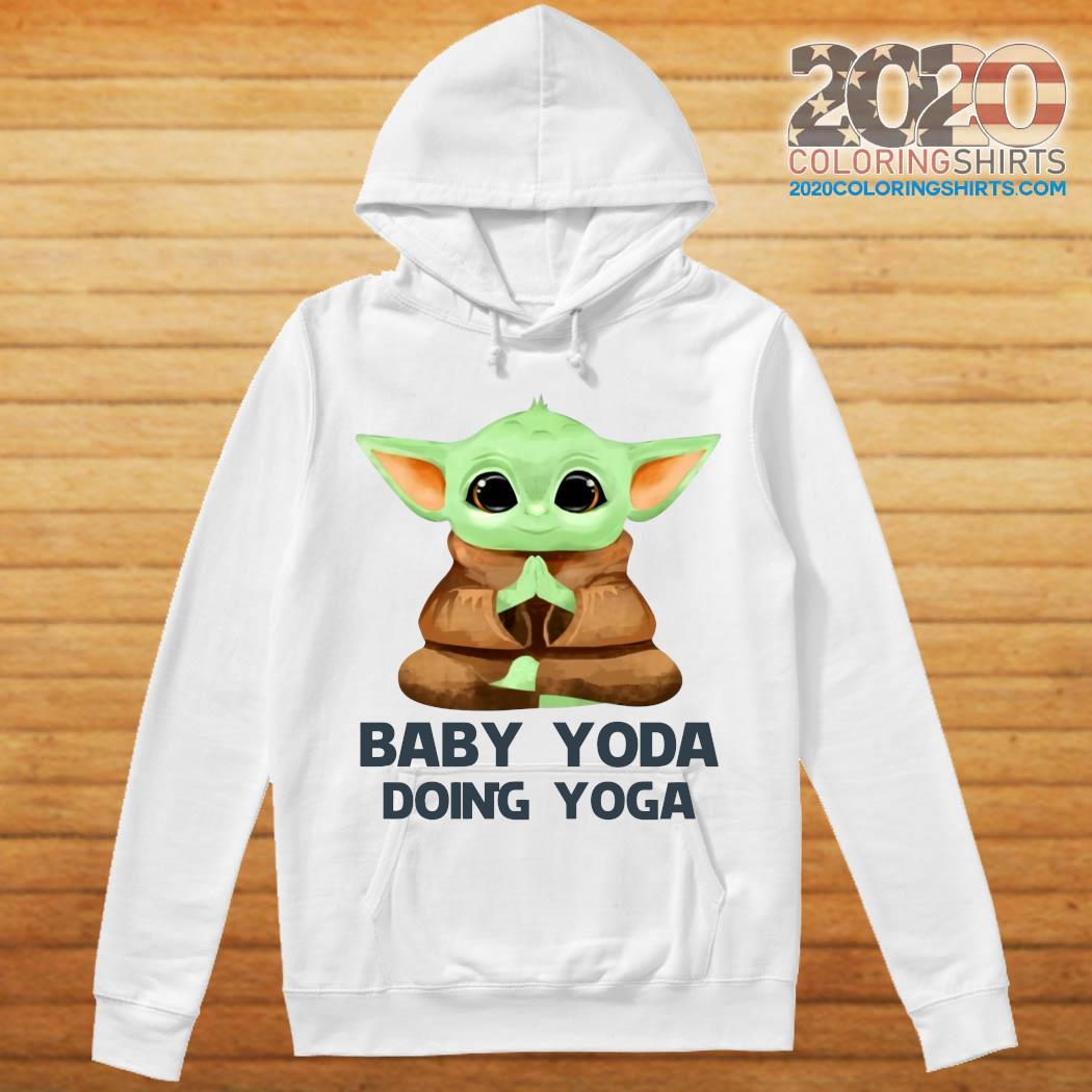 Baby Yoda Doing Yoga Shirt hoodie
