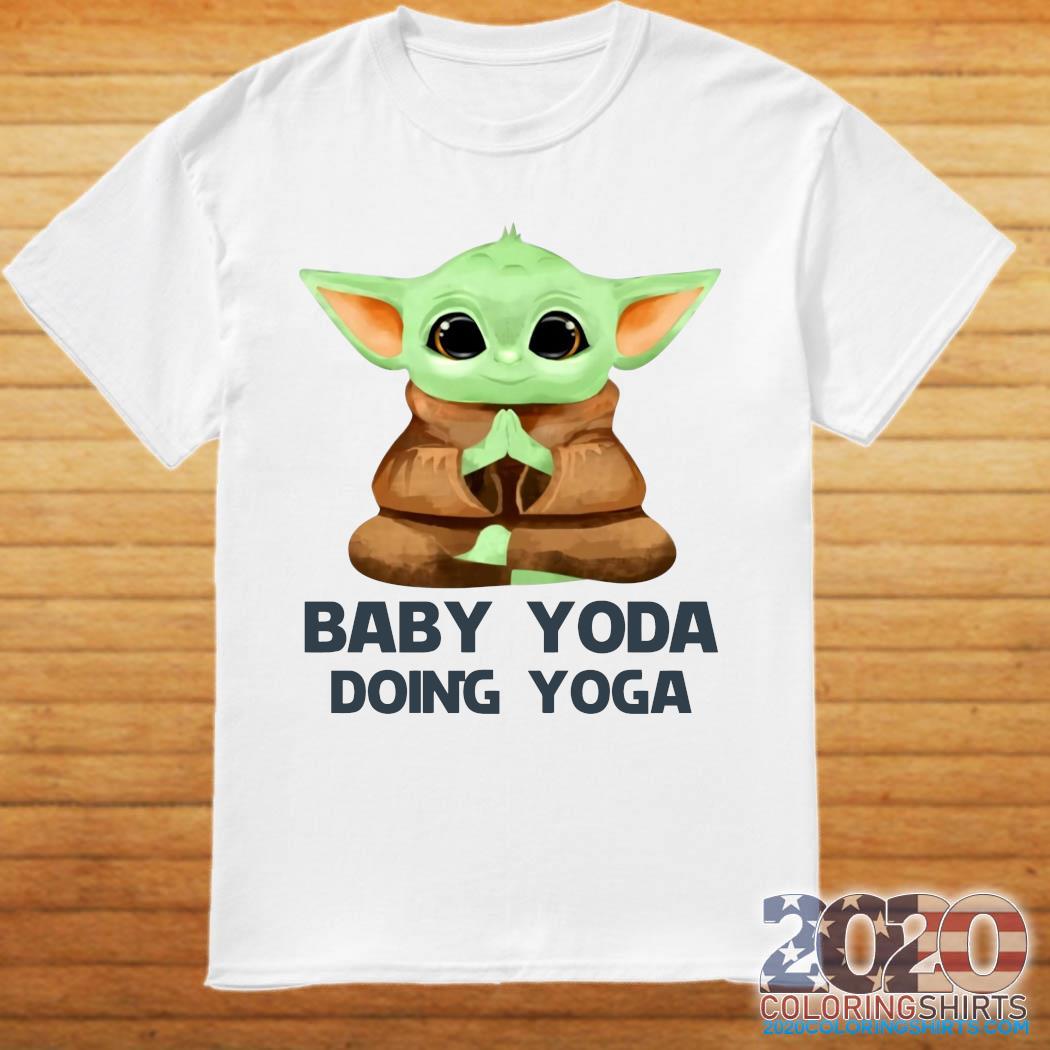 Baby Yoda Doing Yoga Shirt