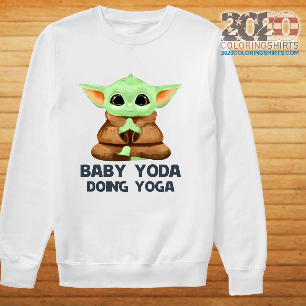Baby Yoda Doing Yoga Shirt sweater